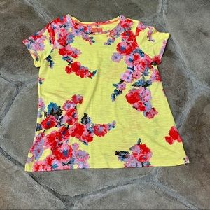 Joules short sleeve floral print T Shirt